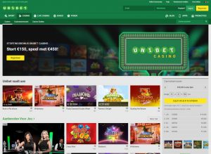 Unibet Casino homepage screenshot