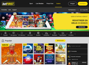 betFIRST.be Casino homepage screenshot