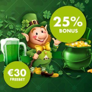 St-Patrick's Day Dubbele Promo Goldenvegas.be