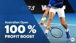 Australian open 100% Winstverhoging Napoleongames.be