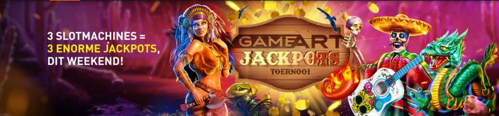 GameArt Jackpots toernooi Casino 777 online speelhal Iedereen wint