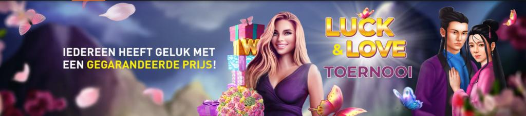 Lucky Love toernooi online Casino 777 Valentijn Cupido prachtige prijzen 2021