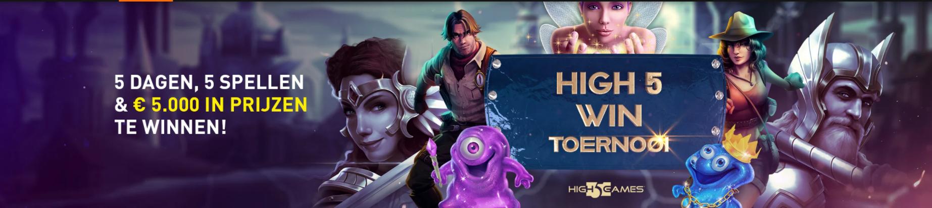 High Win Toernooi High 5 Games Online Casino 777 speelhal 1 miljoen Premium Coins