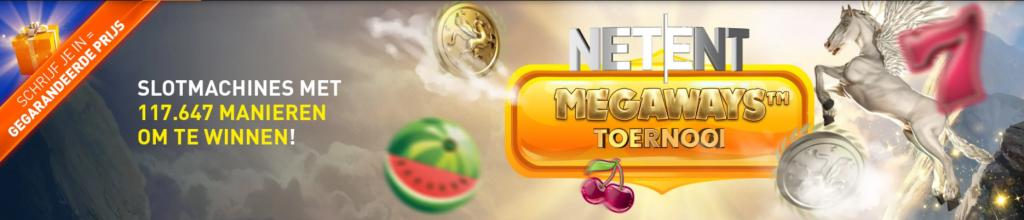 Netent Megaways Toernooi van Casino 777 online speelhal weekend gegarandeerde prijzen 2021