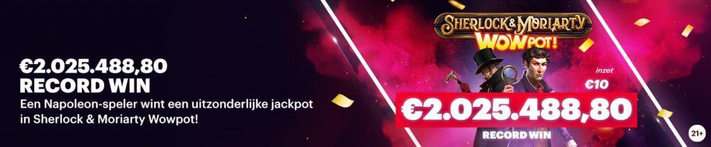 Wowpot Jackpot Napoleon Sports & Casino Miljoenen Record Winst 2021 Vlaming