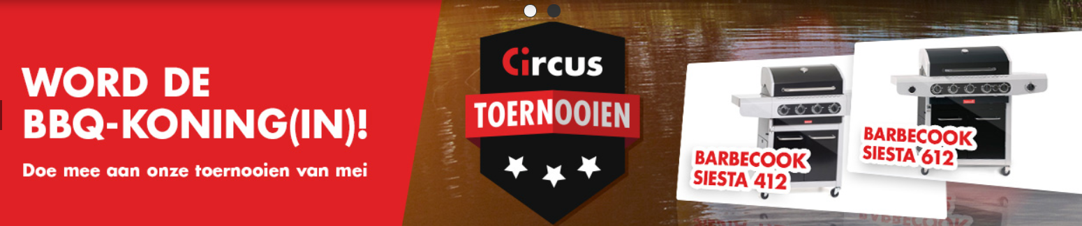 BBQ toernooi van Circus Casino is online