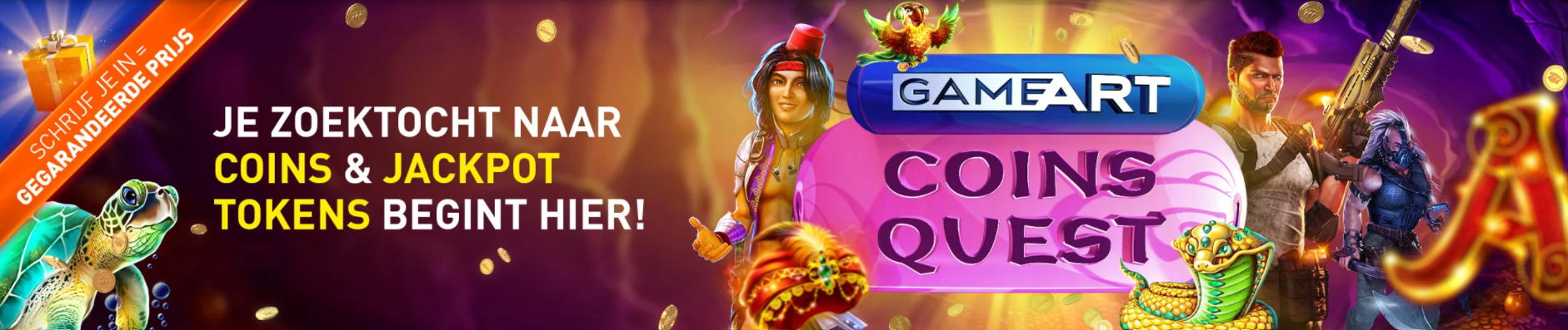GameArt Coins Quest gegarandeerd prijs online Casino 777 Weekendtoernooi Gratis Tokens Jackpot 2021