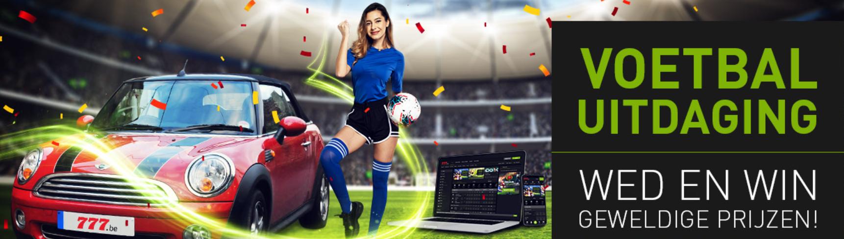 Bet 777 Sport Voetbal uitdaging Wed en Win Geldprijzen Auto Laptop iPhone online Casino Euro 2020