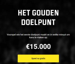 Het Gouden Doelpunt Gratis voorspelling Promotie Unibet Sport Napoleon Sports & Casino Euro 2020