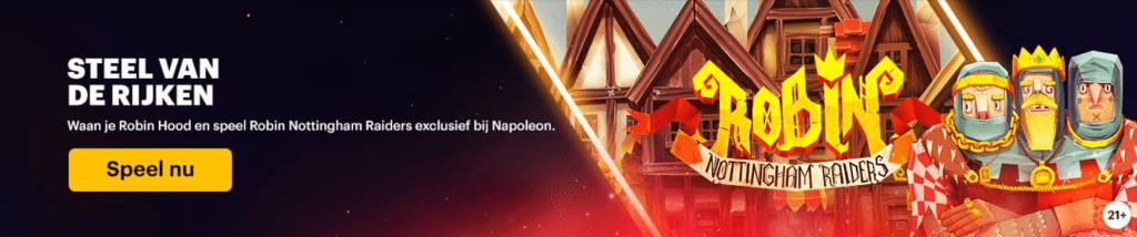 Spellen van de Week Napoleon Sports & Casino 777 Circus online Casino speelhal Robin Nottingham Raiders gokkasten videoslot