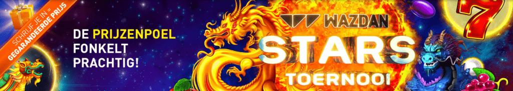 Wazdan Stars toernooi Spellen online Casino 777 speelhal 2021 weekend Geldkluis tokens Jackpot