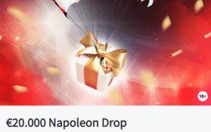 Euro 2020 Napoleon Drop sportweddenschappen €20.000 Napoleon Sports & Casino online wedkantoor Promoties