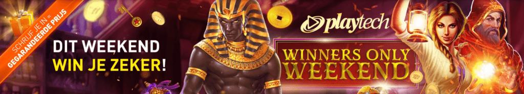 Playtech Winners Only Weekend online Casino 777 Weekendtoernooi speelhal Geldkluis Tokens Jackpot 2021
