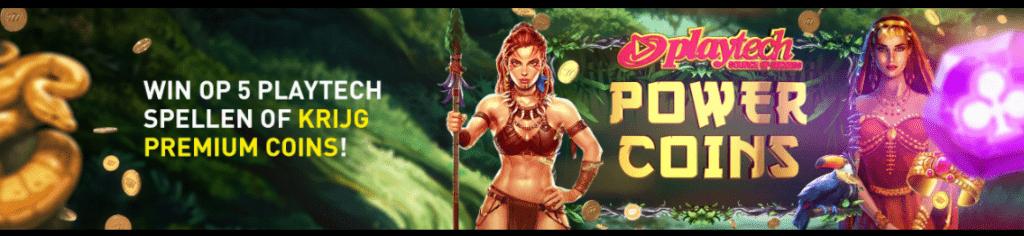 Power Coins Premium Club Shop Casino 777 online speelhal Playtech Videoslots gokkasten 2021