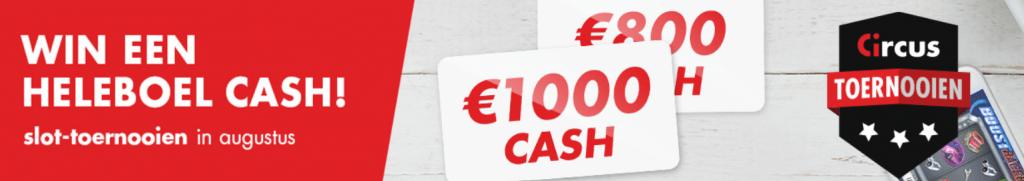 Circus toernooien augustus 2021 online Casino speelhal Dice slots Jackpot Cash