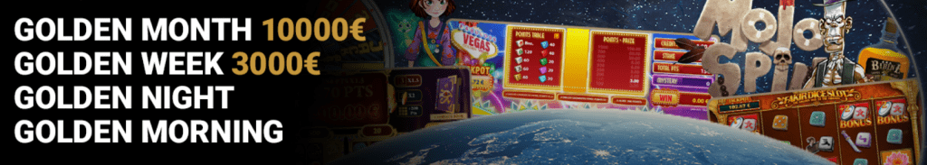 Gouden maand toernooi GoldenVegas online Casino Speelhal Jackpot videoslots Dice games 2021