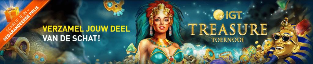 IGT Treasure toernooi Casino 777 online speelhal weekend 2021