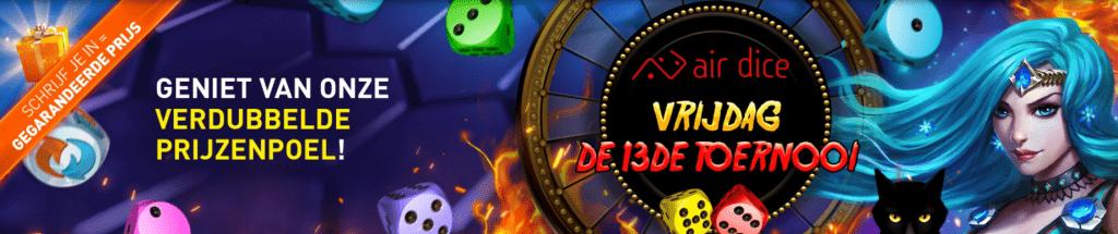 Vrijdag de 13e toernooi Weekend Casino 777 online speelhal Jackpot Dice games videoslots 2021