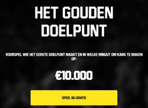 Sport Promoties Gouden Doelpunt Unibet Napoleon Games Profit Boost 100% Dubbele winst Rode Duivels